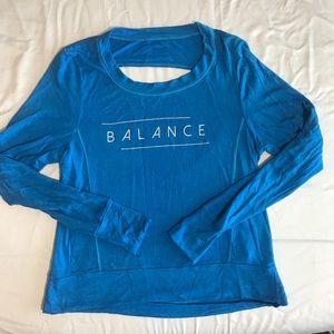 """Good hYOUman """"Balance"""" open back sweatshirt"""